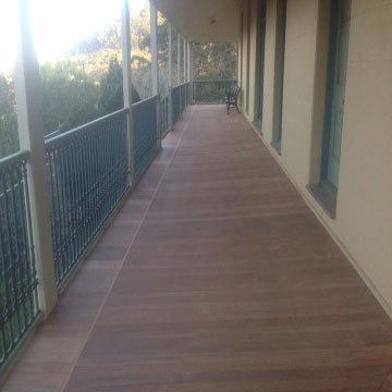 Hargraves home deck sanding